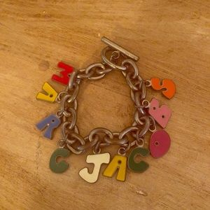 Marc Jacobs sterling silver chain toggle bracelet